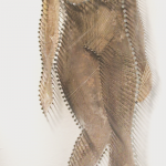 Sculptural painting of a woman